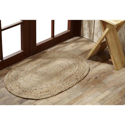 Aldaco Natural Jute Area Rug Rug Size: 18 x 26