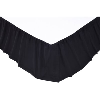 Solid Bed Skirt Color: Black, Size: Queen
