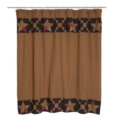Arlington Patchwork Star Border Cotton Shower Curtain