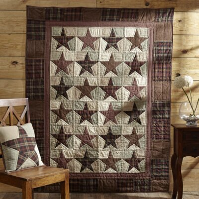 Abilene Star Quilted Cotton Throw