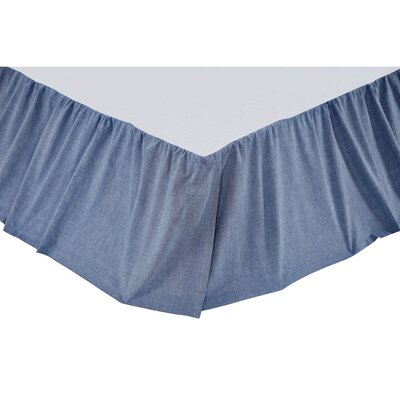Chambray Star Bed Skirt Size: King