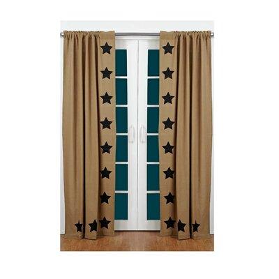 August Grove Claysville Burlap Curtain Panels