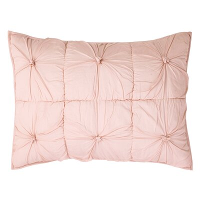 Camille Quilted Sham Size: Euro, Color: Blush Pink