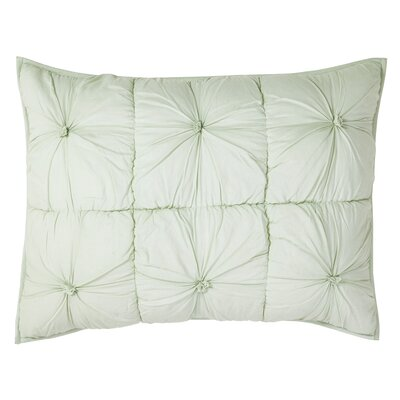 Camille Quilted Sham Size: Standard, Color: Mint