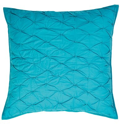 Francesca Quilted Euro Sham Color: Aqua
