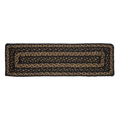 Saco Black/Brown Stair Tread Rug Size: 0.7 x 23