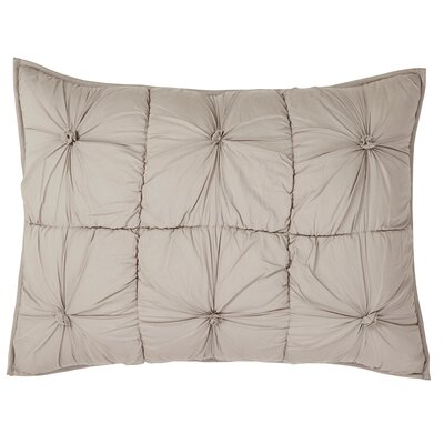 Camille Quilted Sham Size: Standard, Color: Taupe