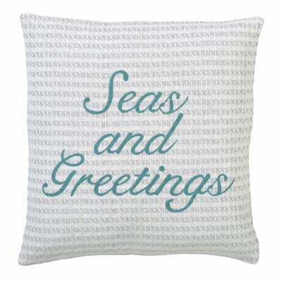 Desjardins Seas and Greetings Throw Pillow