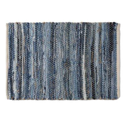 Denim & Hemp Chindi Rag Area Rug Rug Size: 18 x 26
