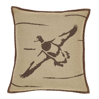 Brodick Duck in Flight 100% Cotton Throw Pillow