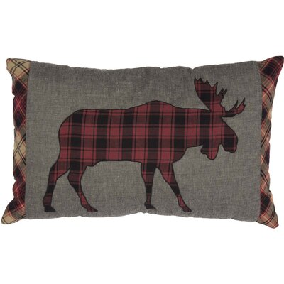 Dorval Applique Moose 100% Cotton Lumbar Pillow