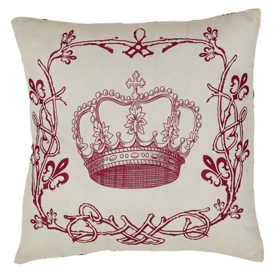 Aurelia Stencil Crown Cotton Throw Pillow