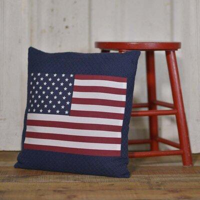 Hooke Flag Applique 100% Cotton Throw Pillow