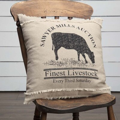 Surikova Cow 100% Cotton Throw Pillow