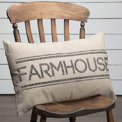 Surikova Farmhouse 100% Cotton Lumbar Pillow