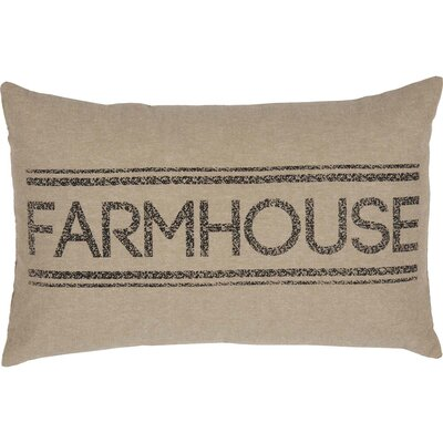 Surikova Farmhouse 100% Cotton Lumbar Pillow