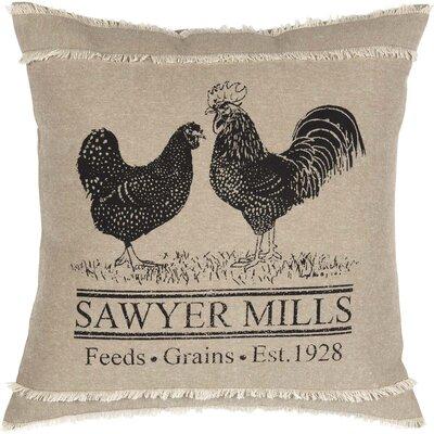 Surikova Poultry 100% Cotton Throw Pillow
