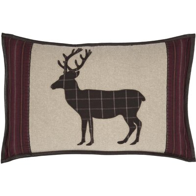 Dubay Applique Deer 100% Cotton Lumbar Pillow