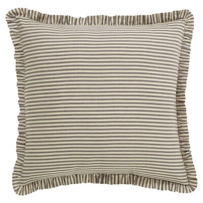 Ding Stripe Euro Sham Color: Black
