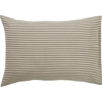 Ding Stripe Pillow Case Color: Black