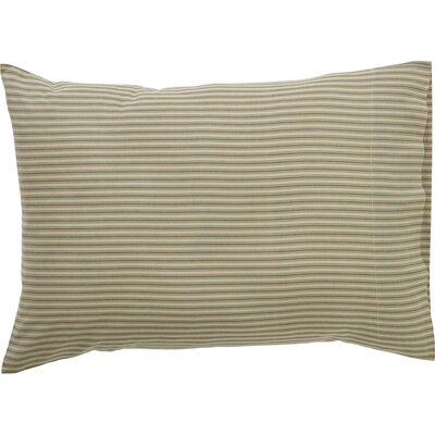 Ding Stripe Pillow Case Color: Green