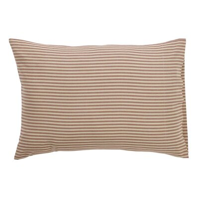 Ding Stripe Pillow Case Color: Red