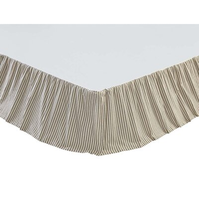 Ding Stripe Bed Skirt Size: Queen, Color: Light Gray