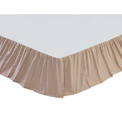 Ding Stripe Bed Skirt Size: King, Color: Pink
