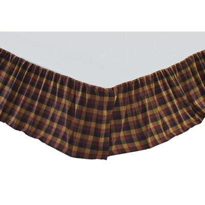 Drancy Check Bed Skirt Size: King