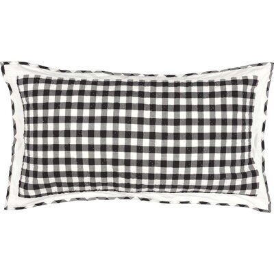 Caulder Buffalo Check Sham Size: King, Color: Black