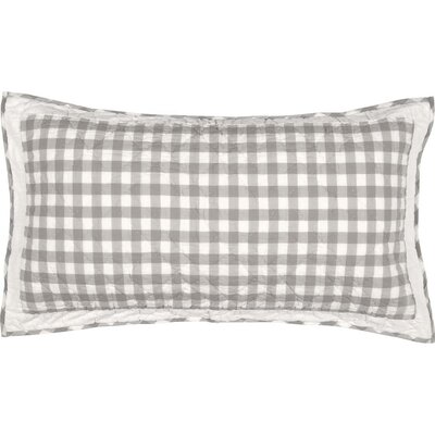 Caulder Buffalo Check Sham Size: King, Color: Gray