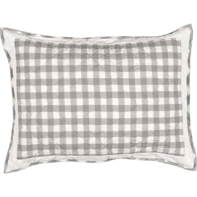 Caulder Buffalo Check Sham Size: Standard, Color: Gray