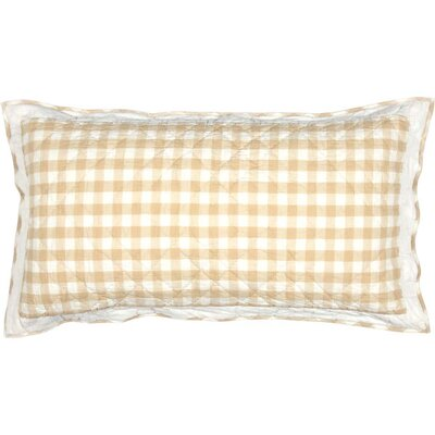 Caulder Buffalo Check Sham Size: King, Color: Tan