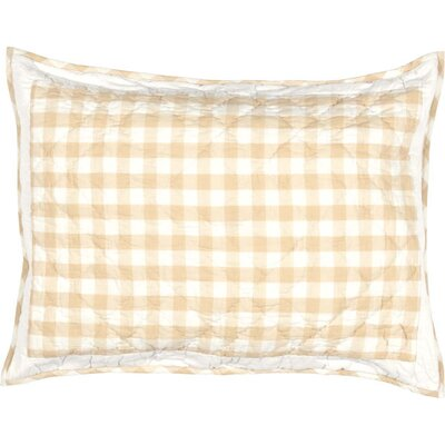 Caulder Buffalo Check Sham Size: Standard, Color: Tan