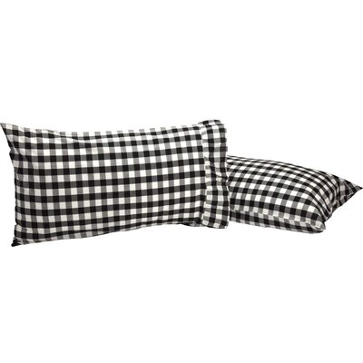 Castleberry Check Pillow Case Color: Black