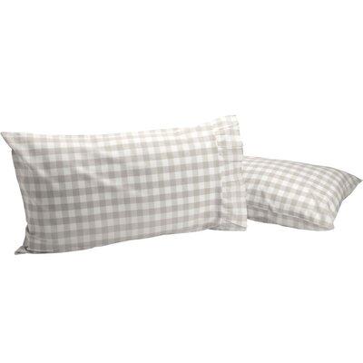 Castleberry Check Pillow Case Color: Gray