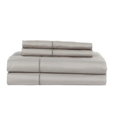 Devonshire of Nottingham 650 Thread Count Egyptian Quality Cotton Sheet Set Size: King, Color: Silver