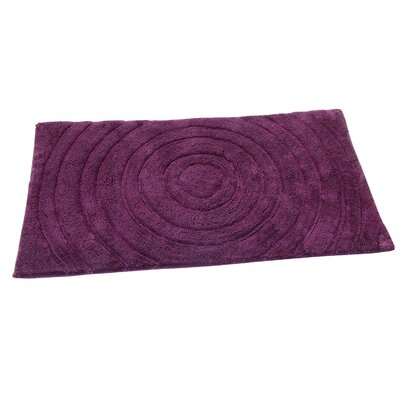 Castle Castle Hill 100% Cotton Echo Spray Latex Back Bath Rug Color: Aubergine, Size: 40 H X 24 W