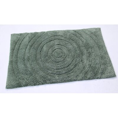 Castle Castle Hill 100% Cotton Echo Spray Latex Back Bath Rug Size: 24 H X 17 W, Color: Green