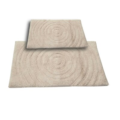 Castle 2 Piece 100% Cotton Echo Spray Latex Bath Rug Set Size: 24 H X 17 W and 30 H X 20 W, Color: Ivory
