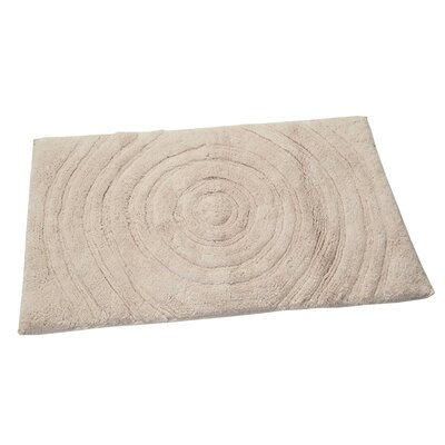 Castle Castle Hill 100% Cotton Echo Spray Latex Back Bath Rug Color: Ivory, Size: 34 H X 21 W