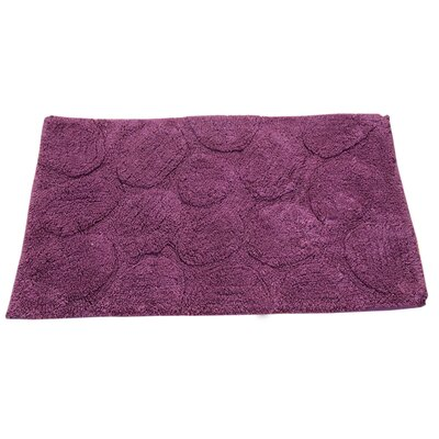 Castle Palm Bath Rug Color: Aubergine, Size: 34 H X 21 W