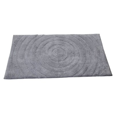 Castle Castle Hill 100% Cotton Echo Spray Latex Back Bath Rug Color: Silver, Size: 40 H X 24 W