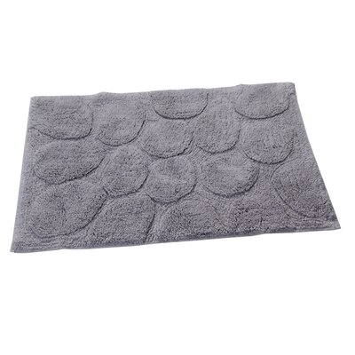 Castle Palm Bath Rug Size: 30 H X 20 W, Color: Silver