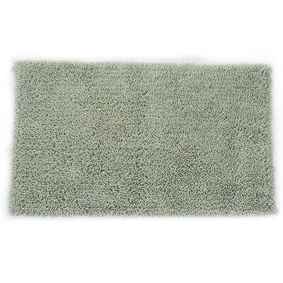 Textile Decor Castle 2 Piece 100% Cotton Melbourne Spray Latex Bath Rug Set - Color: Light Sage, Size: 30