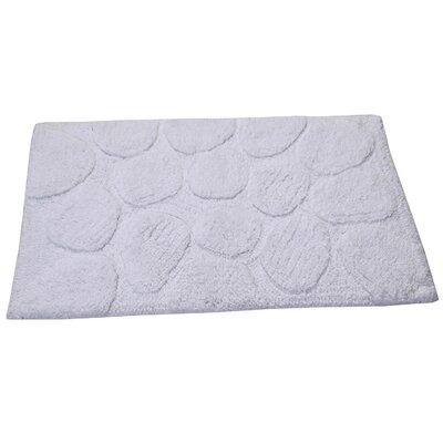 Castle Palm Bath Rug Size: 30 H X 20 W, Color: White