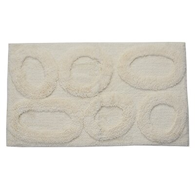 Castle 100% Cotton Pebble Spray Latex Back Bath Rug Size: 24 H X 17 W, Color: Ivory