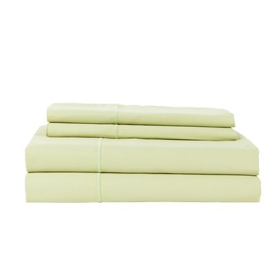 Devonshire of Nottingham 1200 Thread Count Egyptian Quality Cotton Sheet Set Size: Queen, Color: Celedon