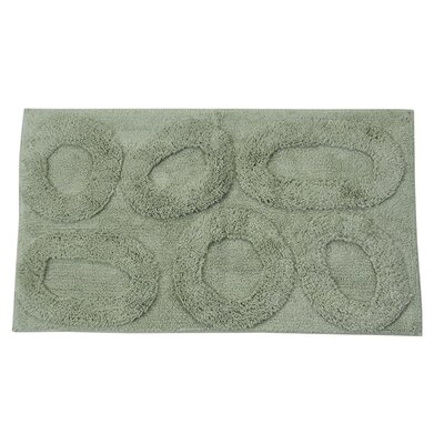 Castle 100% Cotton Pebble Spray Latex Back Bath Rug Color: Light Sage, Size: 30 H X 20 W