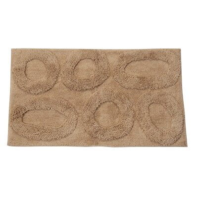Castle 100% Cotton Pebble Spray Latex Back Bath Rug Size: 24 H X 17 W, Color: Taupe